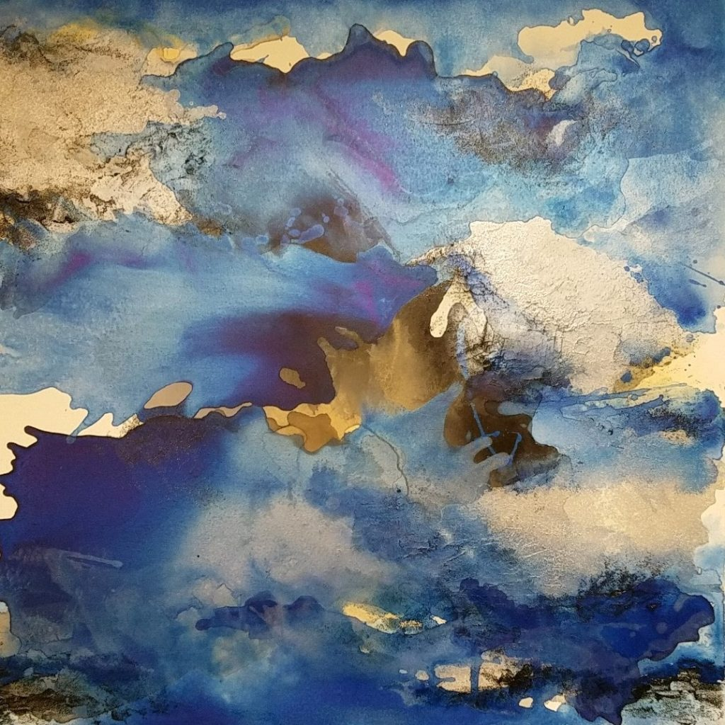 LE MISTRAL 36 IN X 36 IN ACRYLIC AND MIXED MEDIA ON CANVAS