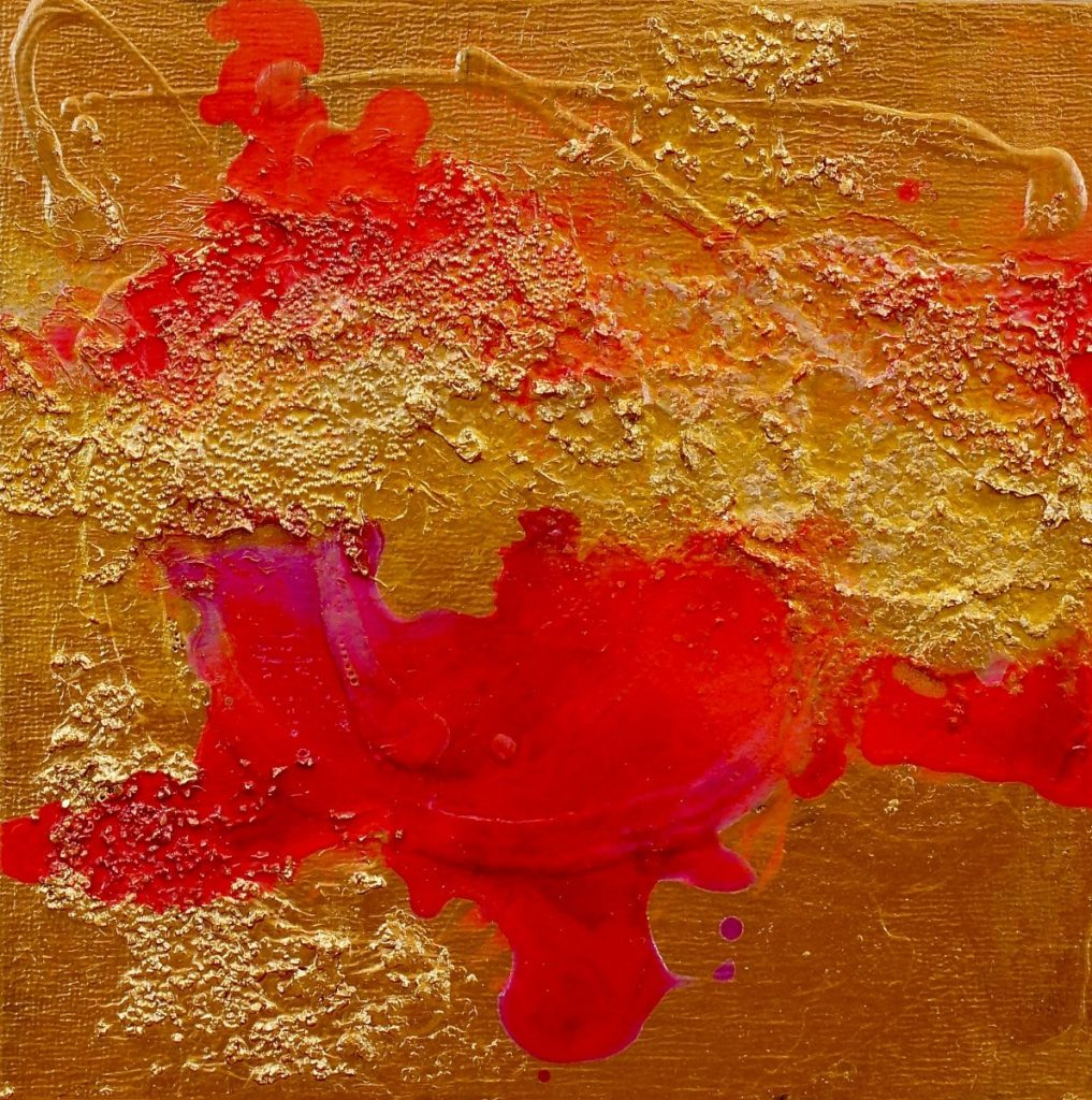 ROUGE GRIT 8 IN X 8 IN ACRYLIC ON PANEL